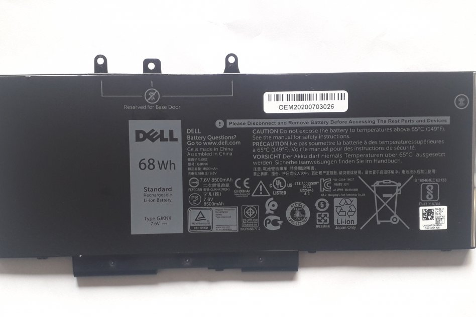 Original Dell GJKNX Laptop Battery  for Dell Latitude 5480 5580 5490
